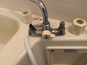 お風呂の蛇口水漏れ パッキン交換 2ハンドル 大阪市