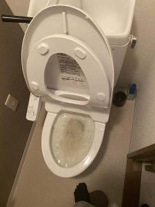 吹田市 トイレ詰まり除去 ローポンプ作業