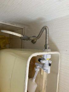 池田市 トイレ水漏れ トイレタンク修理 ボールタップ交換 ゴムフロート