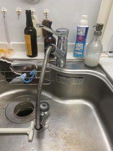西宮市 台所蛇口水漏れ シャワーホース水漏れ 蛇口交換
