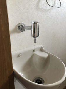 守口市 トイレ手洗い水漏れ 手洗い器 衛生水栓