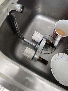 大阪市 ミニキッチン蛇口水漏れ ミニキッチン用蛇口交換