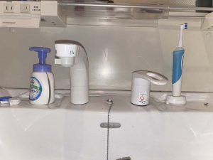 伊丹市 洗面蛇口水漏れ 洗面下が水浸し 蛇口交換