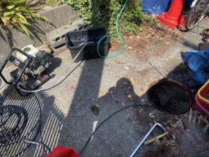 枚方市 下水の詰まり 根っこが下水に 高圧洗浄