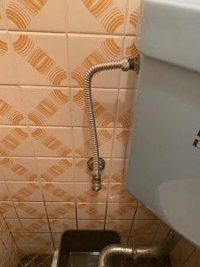 吹田市 トイレのパイプから水漏れ フレキパイプ 止水栓