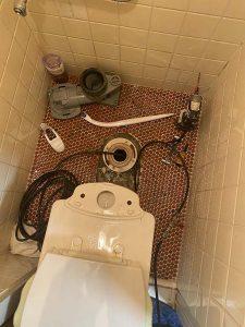 東大阪市 トイレ詰まり除去 下水管詰まり 高圧洗浄作業