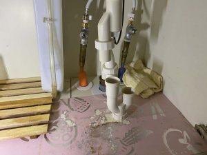 西宮市 洗面排水水漏れ 蛇口水漏れ ポップアップ 排水トラップ