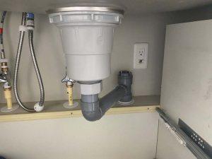 大阪市 ディスポーザーの撤去作業 INAXディスポーザー 排水管取り換え