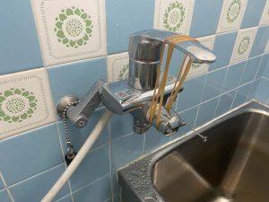 高槻市 お風呂の蛇口の水が止まらない シングルレバー 蛇口交換