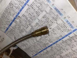 西宮市 Panasonic洗面水栓 シャワーホース交換 洗面蛇口修理