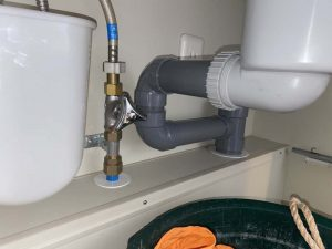 神戸市 ディスポーザーの撤去 排水管新設