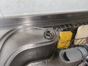 東大阪市 台所蛇口水漏れ 蛇口交換 ワンホールシングルレバー システムキッチン