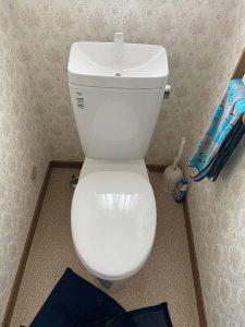 枚方市 トイレ交換 カスカディーナ INAX サイフォン折れてる