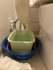 箕面市 トイレの床に水漏れ!? ウォシュレット水漏れ