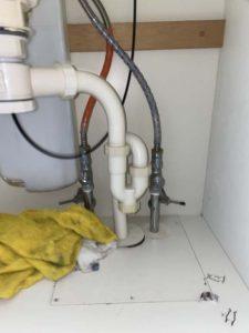 神戸市 パナソニック ナショナル 洗面蛇口水漏れ 斜めになってる水栓