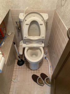大阪市 トイレ詰まり トイレに物を落とした キッチンペーパーは流れません