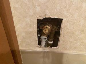 大阪市 TBC タブチ 洗濯コンセント修理 壁埋め込み水栓