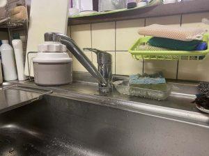 吹田市 台所蛇口水漏れ 蛇口交換 蛇口の根元から水漏れ