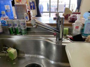 西宮市 台所蛇口水漏れ シャワーヘッド付き蛇口 蛇口交換