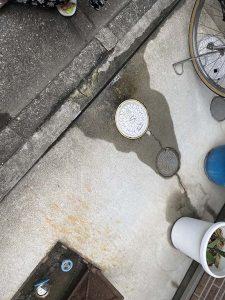 東大阪市 漏水調査 一時側の漏水 地面から水が溢れてくる!?