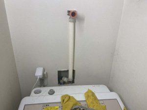 大阪市 洗濯蛇口の取り付け位置変更 給水管切り替え 蛇口交換 埋め込み蛇口