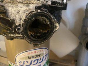 大阪市 ディスポーザー撤去 蛇口交換 セキスイ INAX