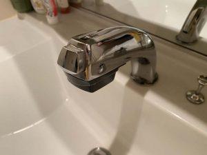 西宮市 洗面蛇口修理 MYM FB244 シャワーホース レバー